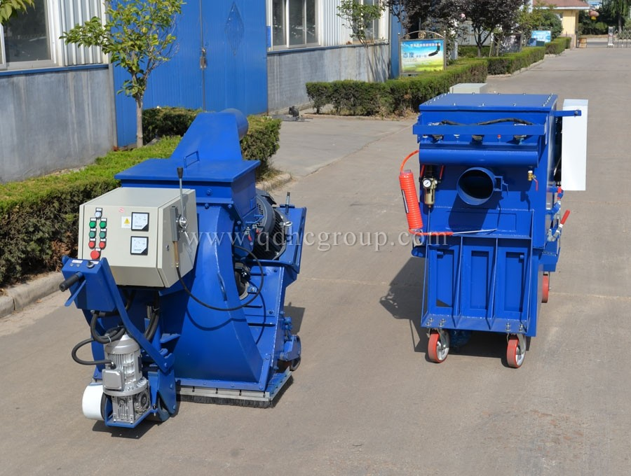Bridge shot blasting machine